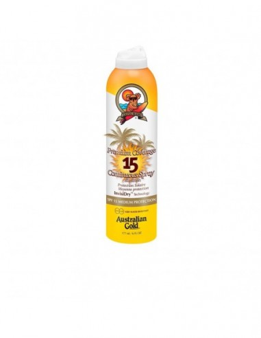 AUSTRALIAN GOLD - PREMIUM COVERAGE SPF15 continuous spray - 1