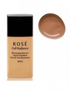KOSE CELL RADIANCE ILLUMINATING LIQUID FOUNDATION 204 LIGHT TAN 30ML - 1