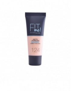 MAYBELLINE - FIT ME MATTE+PORELESS foundation N. 124-soft sand - 1