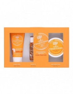 TREETS TRADITIONS NOURISHING SPIRITS SHOWER CREAM 50ML + MIRACLE OIL 30ML + SHEA BUTTER SCRUB 100GR - 1