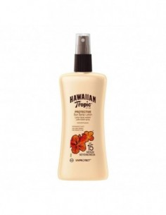 HAWAIIAN TROPIC PROTECTIVE SUN SPRAY LOCION UV SPF15 MEDIUM 200ML VAPORIZADOR - 1