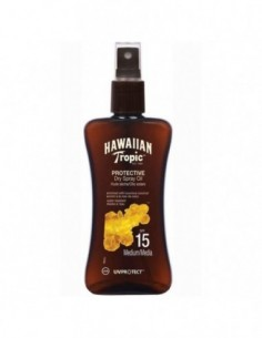 HAWAIIAN TROPIC PROTECTIVE DRY SPRAY OIL SPF15 MEDIUM 200ML VAPORIZADOR - 1
