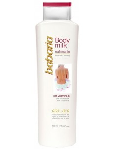 BABARIA ALOE VERA BODY MILK REAFIRMANTE VITAMINA E 500ML - 1